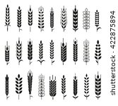 wheat ears icons and logo set.... | Shutterstock .eps vector #422875894