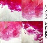 pink paint in water polygonal ... | Shutterstock . vector #422877679