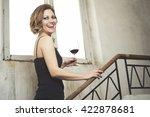 happy beautiful woman | Shutterstock . vector #422878681