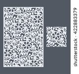 laser cut vector panel and the... | Shutterstock .eps vector #422883379