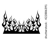 flame tattoo tribal vector... | Shutterstock .eps vector #422886391