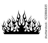 black tribal flames for tattoo...   Shutterstock .eps vector #422886835