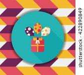 birthday presents flat icon... | Shutterstock .eps vector #422890849