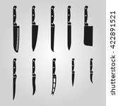 the knife icon  set of 10 icons....