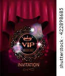red vip invitation card with... | Shutterstock .eps vector #422898685