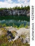 marble quarry in sortavala ... | Shutterstock . vector #42290089