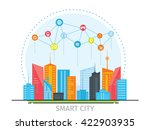thin line flat design concept... | Shutterstock .eps vector #422903935