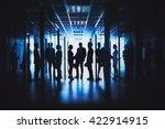 in office corridor | Shutterstock . vector #422914915