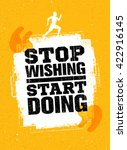 stop wishing start doing. sport ... | Shutterstock .eps vector #422916145