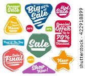 colorful vector sale tags in... | Shutterstock .eps vector #422918899