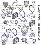 hip hop girl accessories vector ... | Shutterstock .eps vector #422920945
