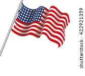 realistic usa flag | Shutterstock .eps vector #422921359