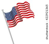 realistic usa flag | Shutterstock .eps vector #422921365