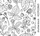 pattern of vector berries and... | Shutterstock .eps vector #422922865
