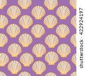seashell seamless pattern.... | Shutterstock .eps vector #422924197