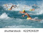 swimming athletes in a... | Shutterstock . vector #422924329