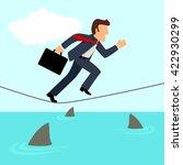 simple cartoon of a businessman ...   Shutterstock . vector #422930299