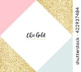modern chic gold background... | Shutterstock .eps vector #422937484