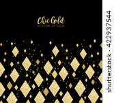 modern chic gold diamond... | Shutterstock .eps vector #422937544