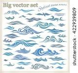 vector waves set of elements... | Shutterstock .eps vector #422939809