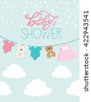 baby shower card | Shutterstock .eps vector #422943541
