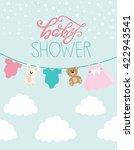baby shower card | Shutterstock .eps vector #422943541