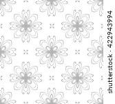 floral vector ornament.... | Shutterstock .eps vector #422943994