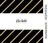 modern chic gold background...   Shutterstock .eps vector #422945341