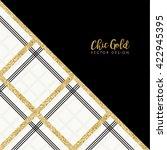modern chic gold background... | Shutterstock .eps vector #422945395