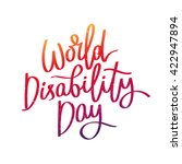 world disability day. the trend ... | Shutterstock .eps vector #422947894
