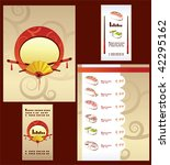 template of sushi menu and... | Shutterstock .eps vector #42295162