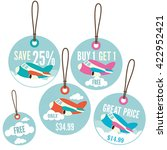 a set of retail price tags with ... | Shutterstock .eps vector #422952421