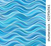 vector seamless wavy pattern.... | Shutterstock .eps vector #422956561