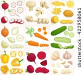 vegetable set. vector... | Shutterstock .eps vector #422958061