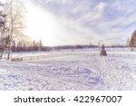 Snow Field In Winter Sunny Day
