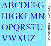 set   ice letters | Shutterstock . vector #42297169