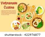 vietnamese cuisine with beef...   Shutterstock .eps vector #422976877