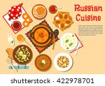 russian cuisine with cabbage...   Shutterstock .eps vector #422978701