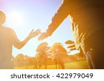 high five line after a child's... | Shutterstock . vector #422979049