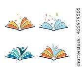 open book learning spirit... | Shutterstock .eps vector #422979505
