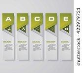 design clean number banners... | Shutterstock .eps vector #422979721