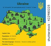 illustration ukraine map... | Shutterstock . vector #422980225