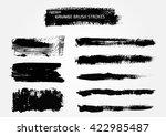 hand painted brush strokes... | Shutterstock .eps vector #422985487