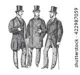 vintage hand drawn gentleman... | Shutterstock . vector #422987059