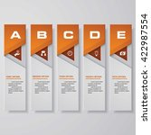 design clean number banners... | Shutterstock .eps vector #422987554