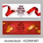 ribbon cutting ceremony banners ... | Shutterstock .eps vector #422989387