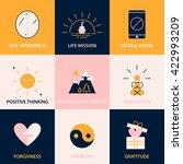 modern color block conscious... | Shutterstock .eps vector #422993209