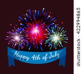 4th july fireworks background ... | Shutterstock .eps vector #422994865