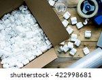 preparing for moving. packing  ...   Shutterstock . vector #422998681