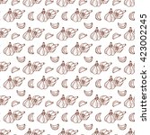 garlic seamless pattern. hand...